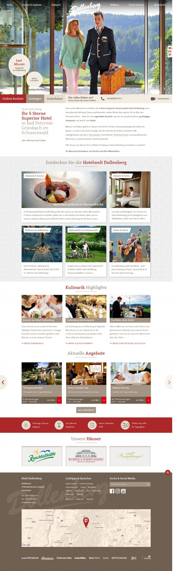 Website Dollenberg Hotel