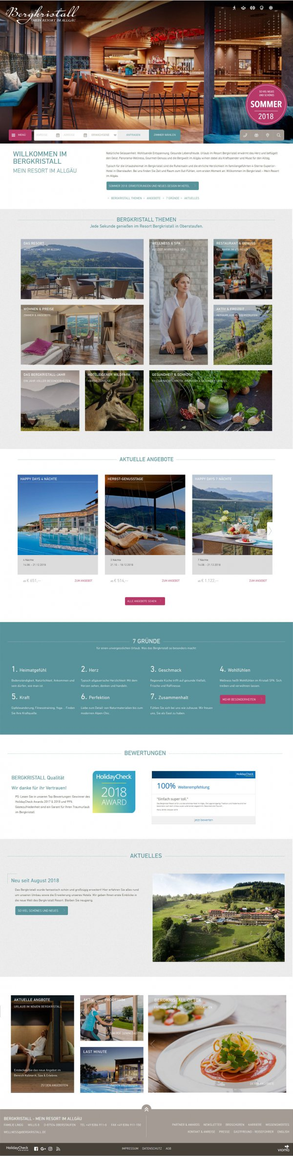 Website Hotel Bergkristall