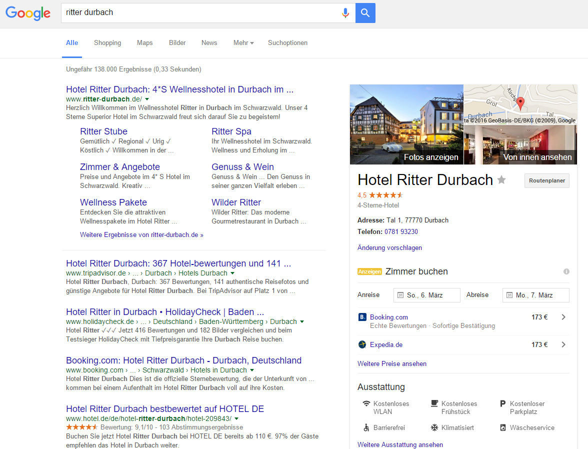 Google My Business Einträge bleiben vorhanden
