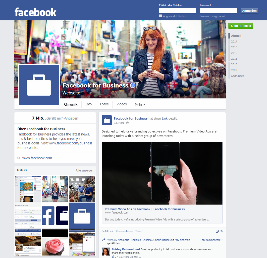Das neue Newsfeed Design. Quelle: http://www.facebook.com