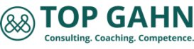 Logo Top Gahn Consulting. Coaching. Competence.